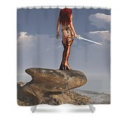 Valkyrie On The Shore Shower Curtain