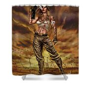 Valkyrie One Shower Curtain