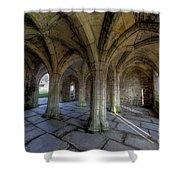Valle Crucis Chapter House  Shower Curtain by Adrian Evans