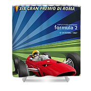 Vallelunga Gran Premio Di Roma 1967 Shower Curtain