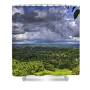 Valley At Chocolate Hills Shower Curtain