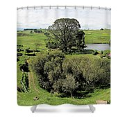 Valley At Hobbiton Nz Shower Curtain
