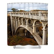 Valley Bridge II Shower Curtain