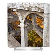 Valley Bridge 3 Shower Curtain