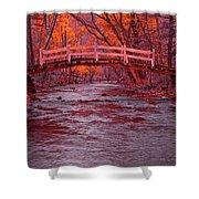 Valley Creek Bridge In Autumn Shower Curtain
