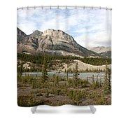 Valley Crossing - Yoho National Park, British Columbia Shower Curtain