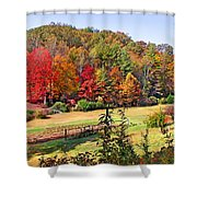 Valley Farm In The Fall Shower Curtain