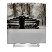 Valley Forge Cabin In Winter Shower Curtain
