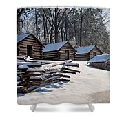 Valley Forge Cabins After A Snow Shower Curtain
