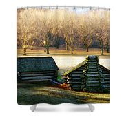 Valley Forge Cabins Shower Curtain