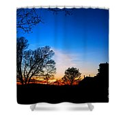 Valley Forge Evening  Shower Curtain