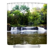 Valley Forge Pa - Valley Creek Waterfall  Shower Curtain