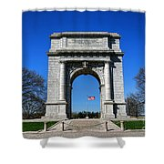 Valley Forge Park Memorial Arch Shower Curtain