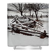 Valley Forge Snow Shower Curtain