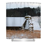 Valley Forge Winter 10 Shower Curtain