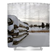 Valley Forge Winter 8 Shower Curtain