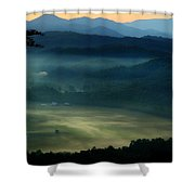 Valley In The Smokies Shower Curtain