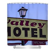 Valley Motel Shower Curtain