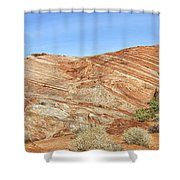 Valley Of Fire - Fire Wave Panorama Shower Curtain
