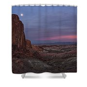 Valley Of Fire Moonrise Shower Curtain