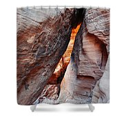 Valley Of Fire Mouse's Tank Canyon Shower Curtain