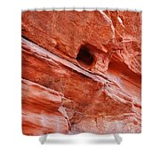Valley Of Fire Mouse's Tank Sandstone Wall Shower Curtain