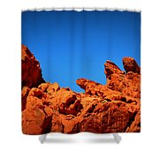 Valley Of Fire Nevada Desert Rock Lizards Shower Curtain