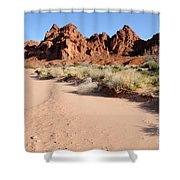 Valley Of Fire Wash Shower Curtain by Gary Whitton