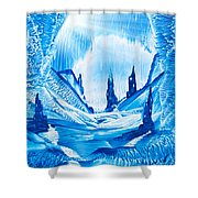 Valley Of The Castles Painting Shower Curtain
