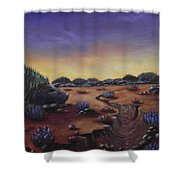 Valley Of The Hedgehogs Shower Curtain