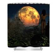 Valley Of The Moon... Shower Curtain