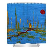 Valley Of The Red Moon Shower Curtain