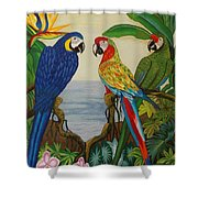 Valley Of The Wings Hand Embroidery Shower Curtain