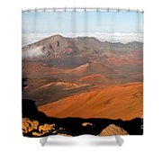 Valley Of Volcanic Cones Shower Curtain