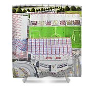 Valley Parade Stadia Art - Bradford City Fc Shower Curtain