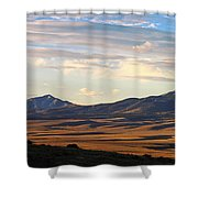 Valley Shadows Snowy Peaks Shower Curtain