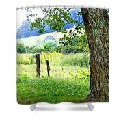 Valley View Along Flat Creek Rd Shower Curtain