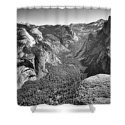 Valley View At Glacier Point Shower Curtain