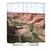 Canyon De Chelly Valley View   Shower Curtain