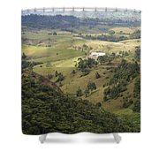 Valley View Of  Atherton Tableland Shower Curtain