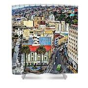 Valparaiso A Color Palette City Shower Curtain