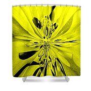 Values In Yellow Shower Curtain