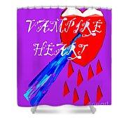 Vampire Heart Shower Curtain