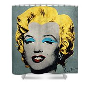 Vampire Marilyn Shower Curtain