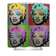 Vampire Marilyn Set Of 4 Shower Curtain