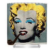 Vampire Marilyn With Surreal Pipe Shower Curtain