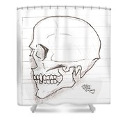 Vampire Skull Shower Curtain