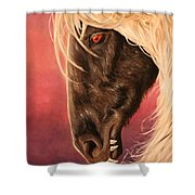 Vampire's Steed Shower Curtain