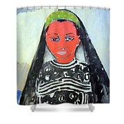 Van Dongen's Saida Shower Curtain