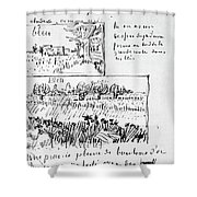 Van Gogh Letter, 1888 Shower Curtain
